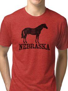 Nebraska T-shirt - Horse Tri-blend T-Shirt