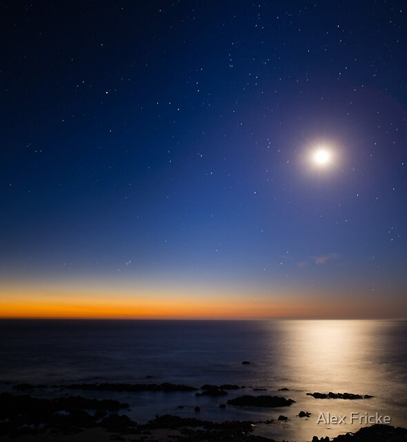 Pointing at the Moon by Alex Fricke