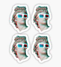 j4vaexe 3d - mini stickers x4 Sticker