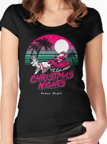 Christmas Nights Women's Fitted Scoop T-Shirt