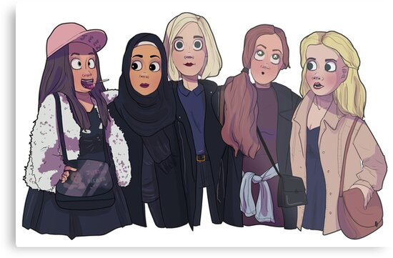 The girl squad from SKAM by Calomiel