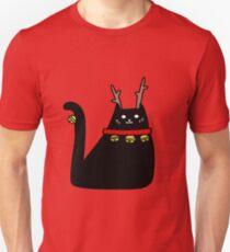 Reindeer Black Cat T-Shirt