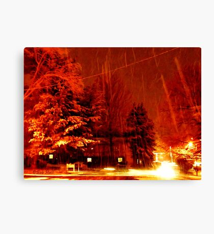 """""""A Snowy Evening in Knoxville"""" (a series, no.9) Canvas Print"""
