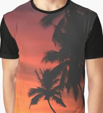 Coconut Trees Silhouette at Dusk Graphic T-Shirt