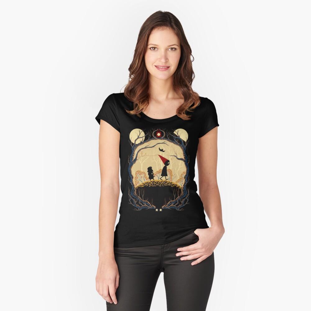 Viaje Camiseta entallada de cuello ancho