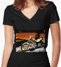 """""""Santa's Play Toy""""... prints and products Women's Fitted V-Neck T-Shirt"""