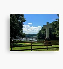 Cross and Lake Canvas Print