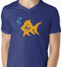 Periodic Table Elemental Gold Fish Men's V-Neck T-Shirt