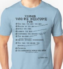 Maui Lyrics - You're Welcome, Reference. Unisex T-Shirt