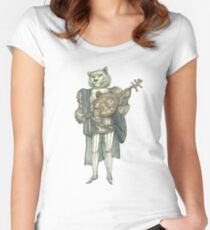 Banjo Lion Women's Fitted Scoop T-Shirt