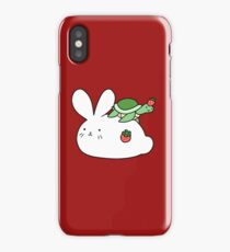 Strawberry Bunny and Tiny Turtle iPhone Case/Skin