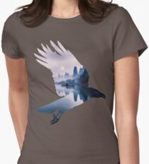 Crow Mystic River  Womens Fitted T-Shirt