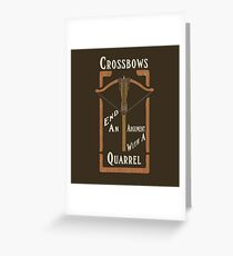Quarrels Kill Tee Greeting Card