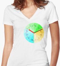 Take Your Time Women's Fitted V-Neck T-Shirt