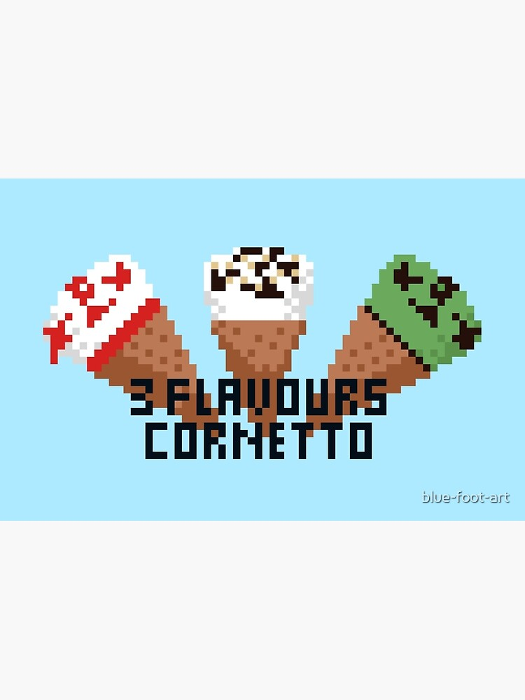 3 Flavours Cornetto Pixel Art Laptop Skin