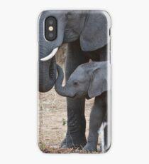 Love & Trust - Mother & Baby African Elephants iPhone Case/Skin