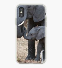 Love & Trust - Mother & Baby African Elephants iPhone Case