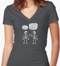 Is it gluten free? Women's Fitted V-Neck T-Shirt