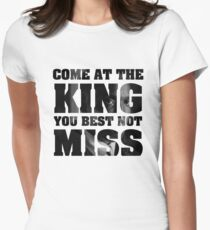 Omar Little - The Wire - Come at the king Women's Fitted T-Shirt