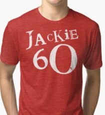Red Holiday Editions Jackie 60 Logo  Tri-blend T-Shirt