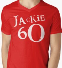 Red Holiday Editions Jackie 60 Logo  Men's V-Neck T-Shirt