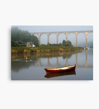 Calstock, Viaduct over the Tamar Canvas Print