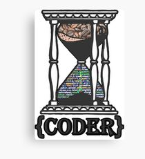 CODER  (hourglass)(programming) Canvas Print