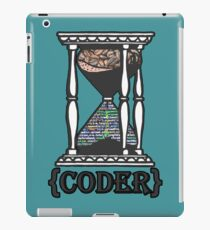 CODER  (hourglass)(programming) iPad Case/Skin