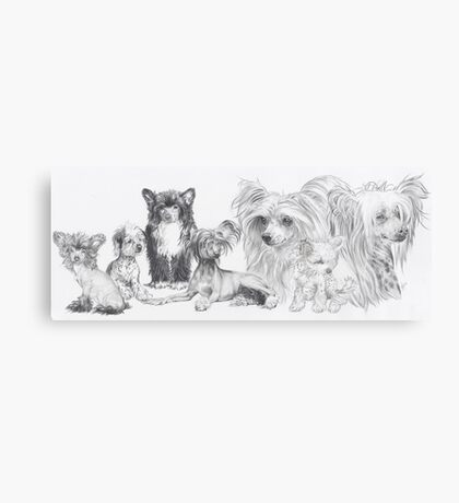 Growing Up Chinese Crested Canvas Print