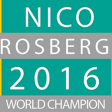 NICO ROSBERG WORLD CHANPION by upick