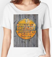 Grosmont - AA Abergavenny, old Enameled sign, Wales, Monmouthshire  Women's Relaxed Fit T-Shirt