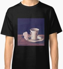 Tea Cup and Pink Flower Still Life Classic T-Shirt