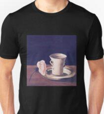 Tea Cup and Pink Flower Still Life Unisex T-Shirt