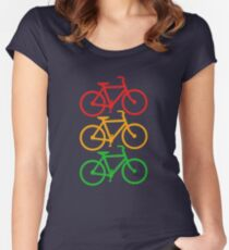 Traffic Light Bicycles Women's Fitted Scoop T-Shirt
