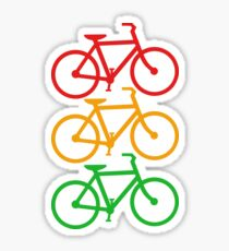 Traffic Light Bicycles Sticker