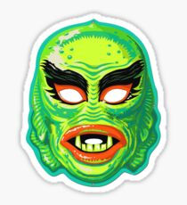 Vintage Creature From The Black Lagoon Mask Sticker