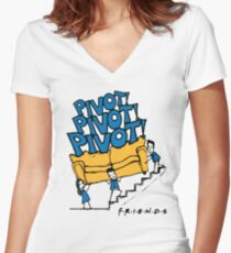 Friends- Pivot Pivot Pivot Women's Fitted V-Neck T-Shirt