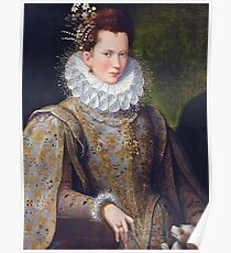 Portrait of Court Lady with Dog by Lavinia Fontana Poster