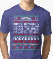 Friends - monica monica have a happy hannukah tshirt  Tri-blend T-Shirt