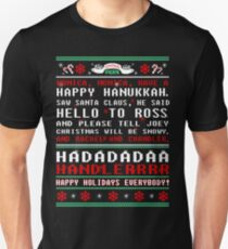 Friends - monica monica have a happy hannukah tshirt  T-Shirt