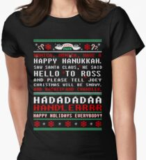Friends - monica monica have a happy hannukah tshirt  Womens Fitted T-Shirt
