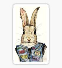 Metal Bunny Sticker