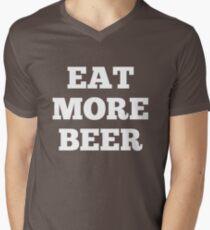 Funny Eat More Beer Men's V-Neck T-Shirt