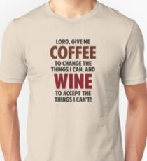 Lord, Give Me Coffee And Wine Slim Fit T-Shirt