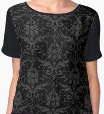 Floral Pattern - Dark Stylish Design Women's Chiffon Top