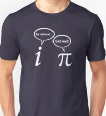 a0e4bcf9b Be Rational Get Real Imaginary Math Pi Slim Fit T-Shirt