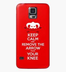 Keep calm and remove the arrow from your knee Case/Skin for Samsung Galaxy