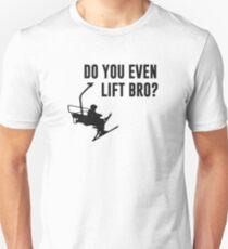 Bro, Do You Even Ski Lift? Slim Fit T-Shirt