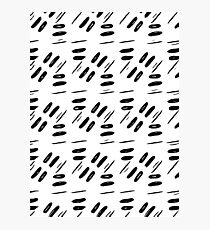Black pattern,abstract background Photographic Print