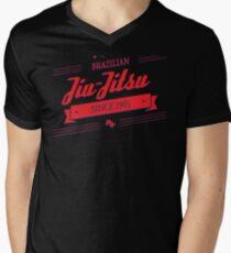 BJJ 3D Banner Men's V-Neck T-Shirt
